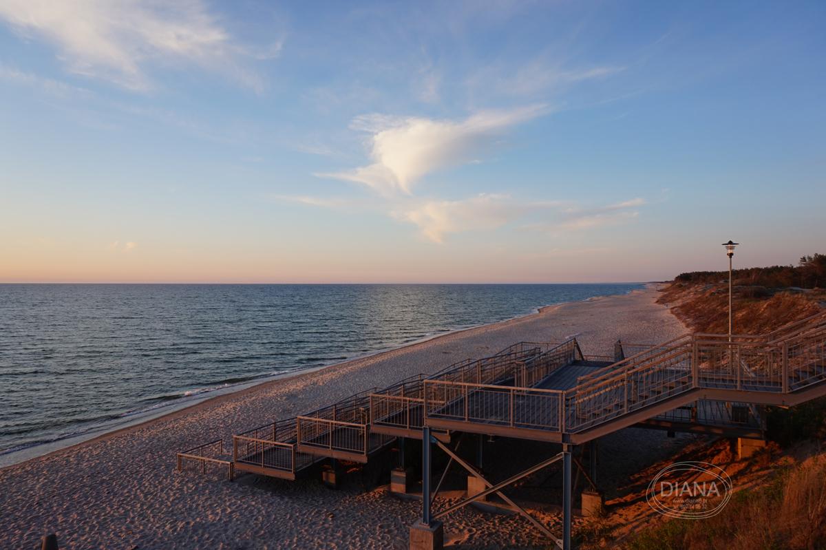Łazy - zejście na plażę